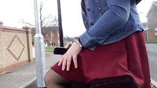 Gorgeous British lady doesn't mind the windy weather!--_short_preview.mp4