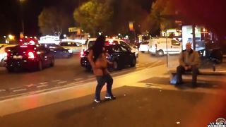 French stripper flashes tits to an older man sitting on a bench--_short_preview.mp4