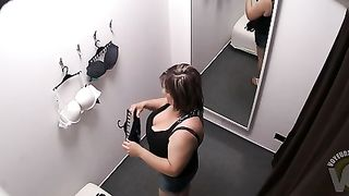 Chubby woman tries on bras and panties in the dressing cabin--_short_preview.mp4
