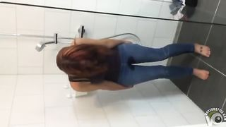 Cute ginger chick pisses her jeans and soaks them--_short_preview.mp4