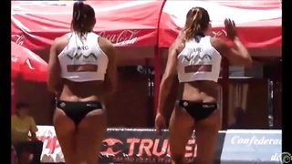 Beach volleyball girls with athletic asses in bikini bottoms--_short_preview.mp4