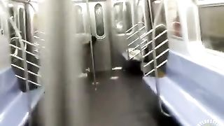 Nasty homeless woman takes a piss inside the train--_short_preview.mp4