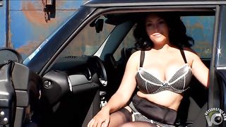 Milf demonstrates vintage stockings and big tits outdoors--_short_preview.mp4