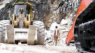 Naked lady in high heels walks the construction site--_short_preview.mp4