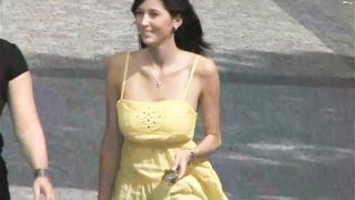 Braless tits bounce in a slow motion walk--_short_preview.mp4