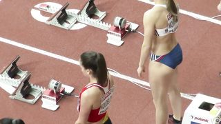Athletic women warm up before a long race--_short_preview.mp4