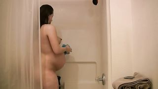 Terrific solo with a pregnant beauty taking a shower--_short_preview.mp4