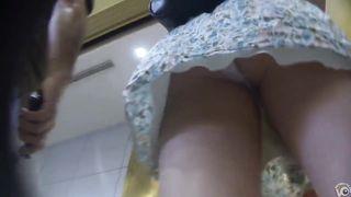 Cute dress upskirt shows her ass in pink panties--_short_preview.mp4