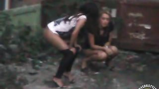 Two very drunk party babes are peeing below my window--_short_preview.mp4