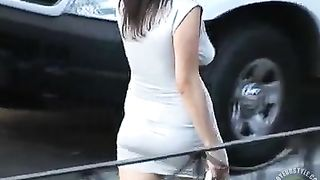 Tight dress and no bra on babe in public--_short_preview.mp4