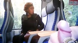 Black girl is bothered by publicly masturbating guy on the train--_short_preview.mp4