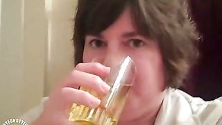 My beautiful wife pisses into a glass and drinks it for me--_short_preview.mp4