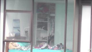 Skinny blonde neighbor walks around her bedroom in underwear--_short_preview.mp4