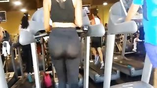 Big sporty ass in nearly sheer tights at the gym--_short_preview.mp4