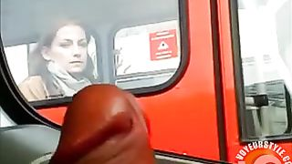 Russian girl on the bus stares at him masturbating lustily--_short_preview.mp4
