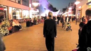 Brave blonde urinates on the middle of the crowded street!--_short_preview.mp4