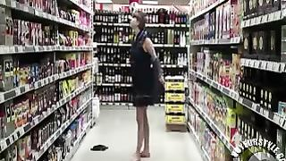 Young amateur strips naked in the grocery store--_short_preview.mp4