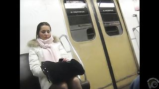 Scarf and pantyhose on cute coed beauty he strokes to--_short_preview.mp4