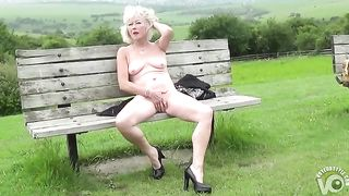 Naked British mature sits on a park bench--_short_preview.mp4