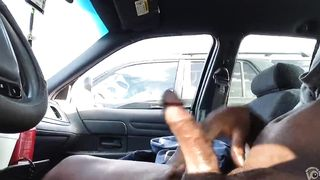 Jacking his black cock in a parked car--_short_preview.mp4