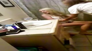 Drunken blonde coed throws things at the camera while trying to pee--_short_preview.mp4