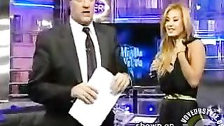 Magnificent blonde unintentionally exposes her breast on TV--_short_preview.mp4
