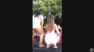 Party girl in a short pink dress reveals her panties while twerking--_short_preview.mp4