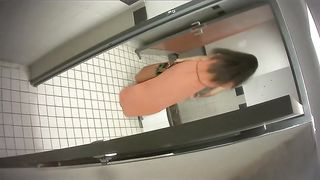 University student in a classy dress takes a whiz in the restroom--_short_preview.mp4