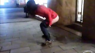 Drunken cutie pissing on a public sidewalk--_short_preview.mp4