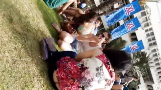 British chick sitting in the grass flashes her ass cracking--_short_preview.mp4