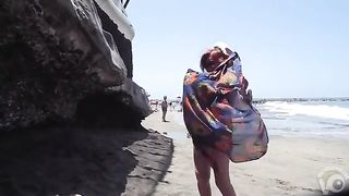 Mature wife is naked for a bit at the beach--_short_preview.mp4