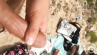 Stroking as ladies hang out on the beach--_short_preview.mp4