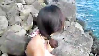 Indian girl in a sexy bikini at the ocean--_short_preview.mp4