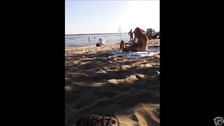 Seductive nudist girlfriend has her pussy exposed on the middle of the beach--_short_preview.mp4
