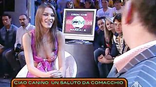 Skimpy dress cleavage tease on TV talk show--_short_preview.mp4