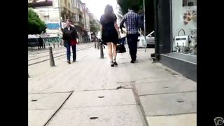 Brunette dish has her black skirt lifted up by the wind--_short_preview.mp4