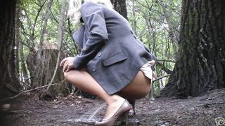 Irresistible wedding guest makes a big puddle in the park--_short_preview.mp4