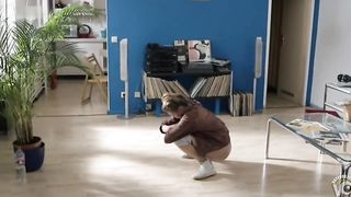 Fantastic diva peeing on a floor in the living room--_short_preview.mp4