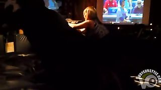 Stacked blonde bombshell rides a mechanical bull in the sport bar--_short_preview.mp4