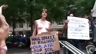 Half-naked chicks protesting against capitalism--_short_preview.mp4