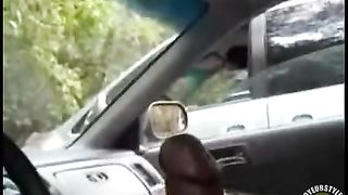 Jerking off my large dick in the car--_short_preview.mp4