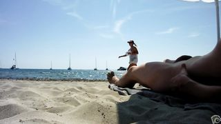 Real exhibitionist strokes his horny dick on a public beach--_short_preview.mp4