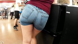 Tight denim shorts cling to her nice ass--_short_preview.mp4