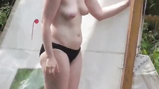 Lady with peachy boobs filmed in secret when flashing--_short_preview.mp4