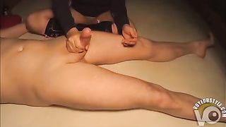 Young secretary provides a nice amateur handjob for her boss in the business hotel--_short_preview.mp4