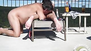 Nudist girl's pussy gets penetrated by the pool--_short_preview.mp4