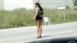 Shameless girl walks down the street in a micro skirt--_short_preview.mp4