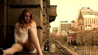 Ginger girl masturbates in public outside her apartment--_short_preview.mp4