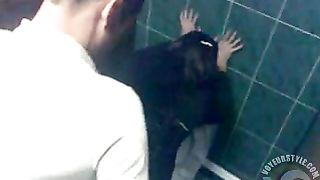 Lucky student fucks his girlfriend in the restaurant restroom--_short_preview.mp4