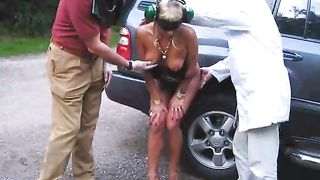 Gloved men fondle naked blonde on the street--_short_preview.mp4